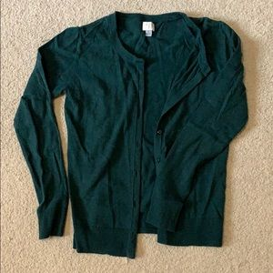 Target green cardigan